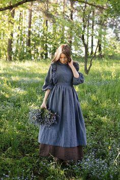Vintage Outfits, Vintage Dresses, Old Fashion Dresses, Fashion Outfits, Robe Pinafore, Apron Dress, Looks Vintage, Costume, The Dress