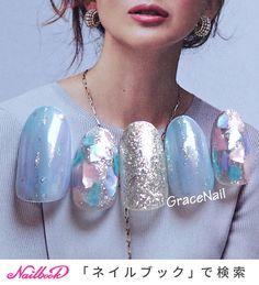 Kawaii Nails, Pearl Earrings, Nail Art, Pearls, Design, Fingernail Designs, Pearl Studs, Beads, Nail Arts