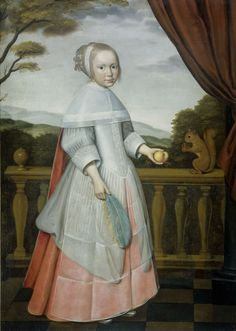 Elisabeth van Oosten (1660-1714), als kind, Willem Jansz. Ploy, 1663