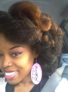 Billows of natural hair