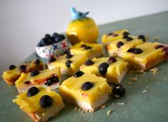 Lemon Blueberry Bars via Baking and Cooking Via Anecdotes and Apple Cores