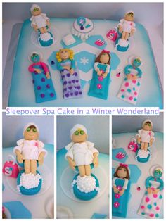 Sleepover Spa Cake on Cake Central