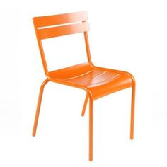 Nice color assortment.  Aluminium, long lead time (12 weeks) Luxembourg Stacking Chair, Set of 4