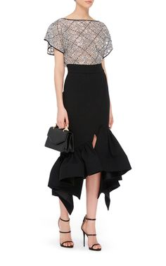 Creature Longline Skirt by MATICEVSKI Now Available on Moda Operandi