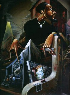 The / Frank Morrison African American Artwork, American Artists, African Art, Black Art Painting, Black Artwork, Action Painting, Caricatures, Frank Morrison Art, Arte Do Hip Hop