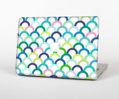 """The Vibrant Fun Colored Pattern Hoops Skin Set for the Apple MacBook Pro 15"""" with Retina Display from Design Skinz"""