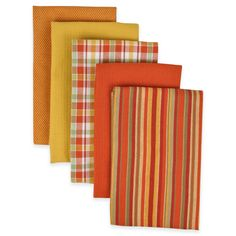 Performance Kitchen Towels in Spice (Set of 5)