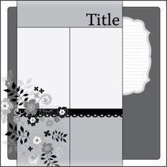 Scrapbook Idea - lose the flowers