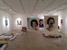 "Set up for the premier of the ""Reconstruct"" exhibition