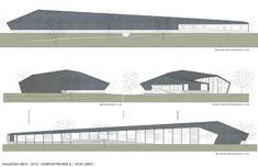 facade plan public swimming pool grey design architecture plan