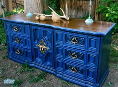 A distinctively distinguished dresser.