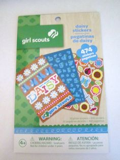 Girl Scout Daisy Scrapbook Stickers-Package of 474