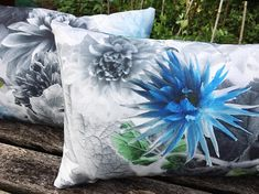 Outdoor cushion cover in Designers Guild fabric Mariedal
