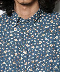 チチカカ メンズ(チチカカ メンズ)のメンズ花柄プリントLSシャツ(シャツ・ブラウス)|詳細画像