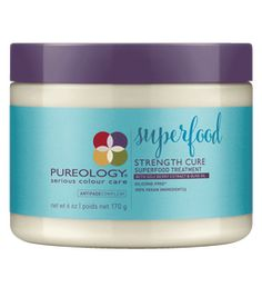 Shop Strength Cure Superfood Treatment by Pureology, a goji berry extract and olive oil hair mask treatment for damaged hair that strengthens damaged, color-treated hair. Hair Breakage Treatment, Hair Growth Treatment, Hair Mask For Damaged Hair, Damaged Hair Repair, Superfood, Olive Oil Hair Mask, Long Thin Hair, Face Shape Hairstyles, Hair Loss Remedies