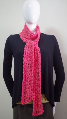 Free Crochet Pattern : Easy Crochet Scarf