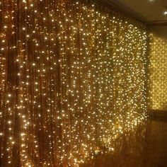 Warm White 300 LED Fairy Curtain String Lights Wedding Party Perfect Holiday room Details about 300 LED Fairy Curtain String Lights Wedding Party Room Decor Perfect Holiday Fairy Light Curtain, Curtain Lights, Fairy Lights Wedding, Christmas Lights Wedding, Light Wedding, Wedding Stage, Wedding White, Dream Wedding, Hanging Curtains