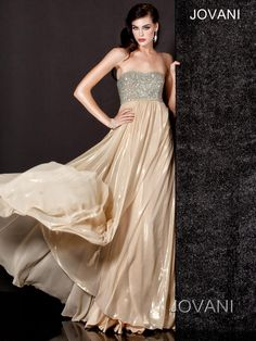 Jovani Metallic and Jewel Gown, Style 5819 ~ Available during our Jovani trunk show in January