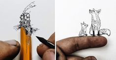 Christian Watson, illustrator and owner of 1924, posts images to Instagram multiple times a day, pictures that showcase his cross-country adventures, vintage cameras, and sporadically his own miniature ink drawings that are often less than a half an inch tall. The tiny illustrations seem to mimi