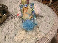 6 inch Lavender sachet with image of Victorian by cindysvictorian