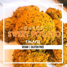 This healthy Sweet Potato Falafel contains no oil, dairy, flour, eggs, or sugar - just simple, real, whole ingredients! Savory, crunchy, and soft on the inside, these falafel are perfect for anyone who's vegetarian, vegan, gluten free, dairy free, or just wants a delicious bite of food!