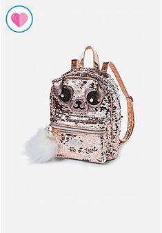 Pugicorn Flip Sequin Mini Backpack