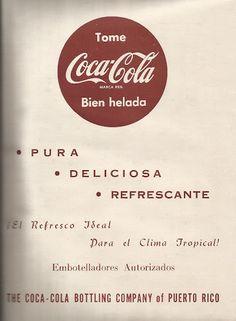 Antiguo Anuncio de Coca Cola   Historia y Genealogia PR