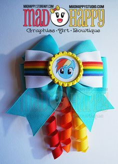 Rainbow Dash Bow