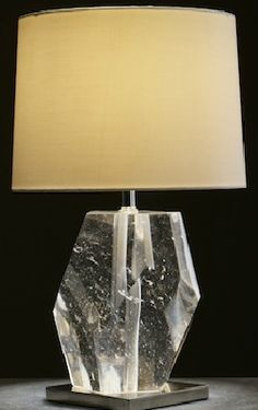 Robert Kuo, stunning piece of crystal as a lamp base.