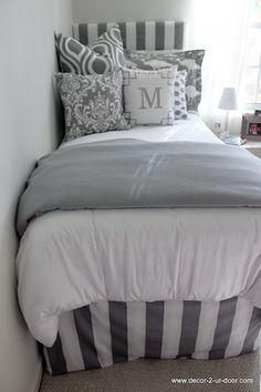 Grey & White Delight Designer Teen & Dorm Bed in a Bag