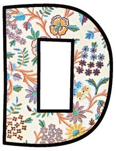 ArtbyJean - Vintage Indian Print: ALPHABET SET with vintage Indian flower print