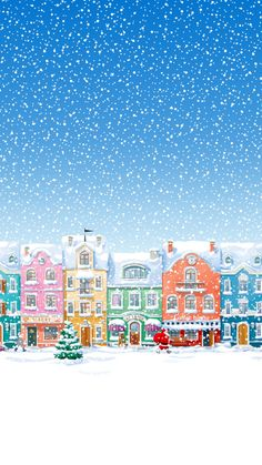 Snowy Town Santa Claus Delivering Christmas Presents iPhone 6...