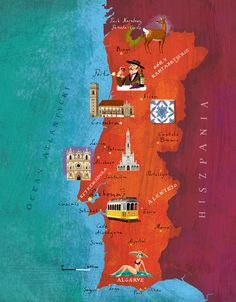 Portugal map by Kapitan Kamikaze - Adam Pękalski