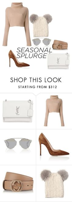 """""""Untitled #556"""" by sophiatsunis on Polyvore featuring Yves Saint Laurent, Valentino, Christian Dior, Gianvito Rossi, Gucci and Eugenia Kim"""