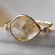 I'm in love with this conflict free diamond slice ring. So pretty and unique.