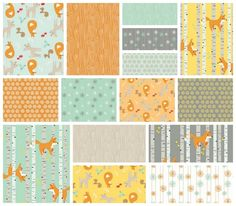 Good Natured 15 Fat Quarter Set by Marin Sutton for Riley Blake