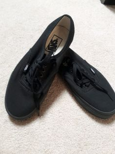 19f4e602d6 (eBay link) VANS shoes canvas Size 8 womens  6.5 mens black classic casual