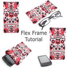 Free Flex Frame Pouch Tutorial  by Sugar Cane