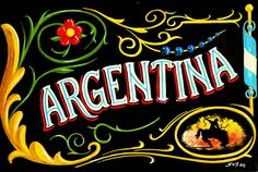 ♥ I Argentina (well, Buenos Aires) so much that just the mention of the country sets my heart all aflutter! Argentina Culture, Visit Argentina, Typography Design, Lettering, South America, Spanish, Old Things, Neon Signs, Drawings