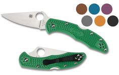 Spyderco Delica 4 Flat Ground FRN