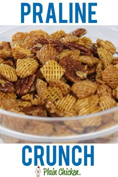 Sweet and Salty in every bite! Can make ahead of time and store in an air-tight container. Great for a party or homemade gift! Snack Mix Recipes, Yummy Snacks, Appetizer Recipes, Cooking Recipes, Yummy Food, Snack Mixes, Snacks At Work, Cooking Pork, Salty Snacks
