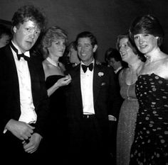 ca. 1985. The Spencer children with Prince Charles. Titles current as of 2015: Diana's younger brother Charles, 9th Earl Spencer, and elder sisters, Baroness Jane Fellowes and Lady Sarah McCorquodale.
