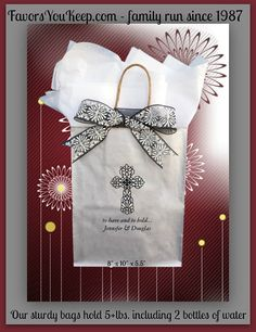 25+ Wedding Welcome Bag Unique Christian Cross Design Guest Gift Bag Welcome for Weddings Church Wedding Welcome Hotel Bag ~ Free Shipping!*