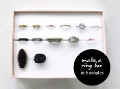 how to make a ring box in under 5 minutes for cheap // by Michele Ng