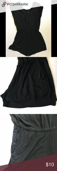 "Jasmine & Juliana Brand Shorts romper NWT Jasmine & Juliana brand , shorts jumper set, NWT, black,  very stretchy material and soft, size small, lace trim cross back with snap closure, elastic waist, 19"" bust , 30"" length 2"" inseam ( 37) jasmine & juliana Shorts"