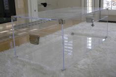 Acrylic Lucite Furniture - Cocktail, End Tables, Consoles, and Occasionals