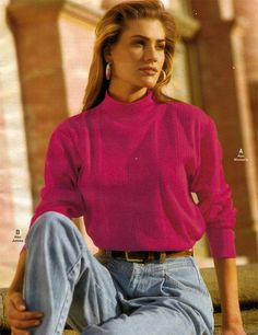Pleated jeans from a 1993 catalog #vintage #fashion #1990s #retrowaste