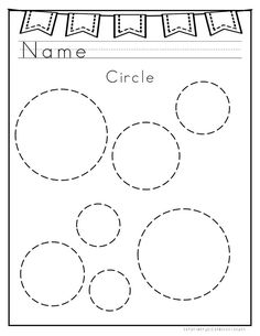 Tracing Circles Worksheet | Free Printable Worksheets | Pinterest ...
