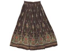 Amazon.com: Gypsy Skirt for Womens , Brown Sequin Skirts, Dcrapechic Beaded Allover Skirt: Clothing