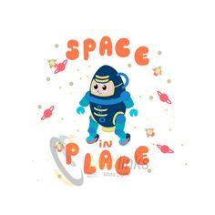 Criação de mascote para Space in Place
